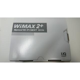 エヌイーシー(NEC)のSpeed Wi-Fi NEXT WX06 クラウドホワイト(PC周辺機器)