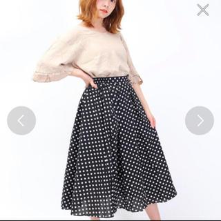スピンズ(SPINNS)のドットスカート(ひざ丈スカート)