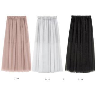 GU - 🌱GU チュールスカート ブラック  春物 今期トレンド商品