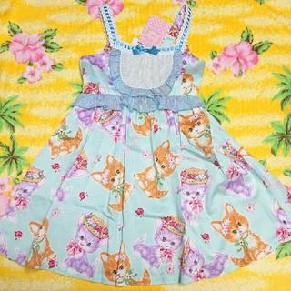 Shirley Temple - シャーリーテンプル♥新品タグ付き♥ネコフラワーJSK♥110cm