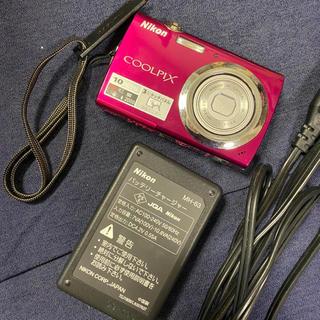 ニコン(Nikon)の美品♡ Nikon Coolpix s230 ピンク デジカメ デジタルカメラ(コンパクトデジタルカメラ)