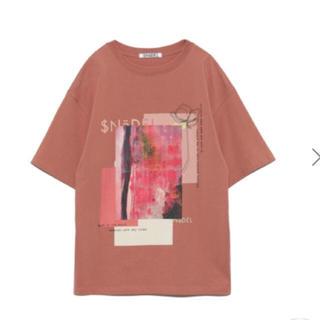 スナイデル(snidel)の未開封🌷完売色🍀スナイデル デザインロゴ Tシャツ(Tシャツ(半袖/袖なし))