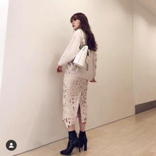 rienda - 大人気!美品riendaレースタイトスカート