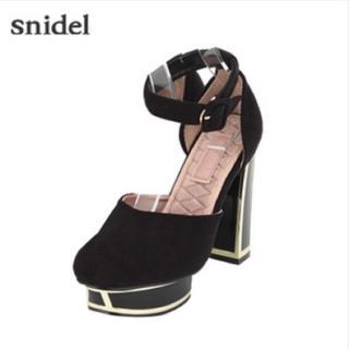 snidel - メタルヒールストラップパンプス