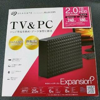 ELECOM - 外付けHDD 2TB 外付けハードディスク 2TB Seagate製