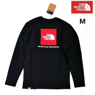 THE NORTH FACE - THENORTHFACE RedBox 長袖T 黒 US/M 海外限定★新品
