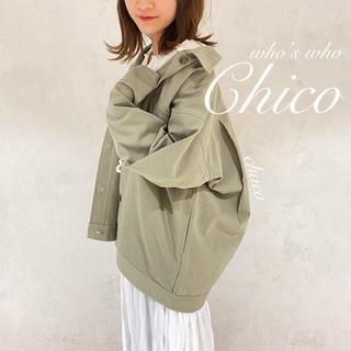 who's who Chico - 新作🥑¥8690【Chico】ツイルフライトジャケット