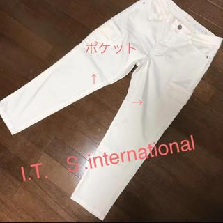 イッツインターナショナル(I.T.'S.international)の⭐️両腿サイドポケットがお洒落で痩せ見え❣️合わせやすい春パンツ(カジュアルパンツ)
