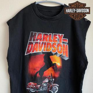 ハーレーダビッドソン(Harley Davidson)のハーレーダビッドソン タンクトップ ノースリーブ 90s   ヴィンテージ(タンクトップ)
