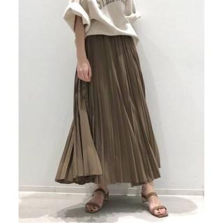 L'Appartement DEUXIEME CLASSE - 新品■Pleats Skirt プリーツスカート■ベージュ■アパルトモン