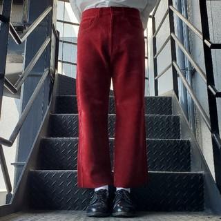 ジョンローレンスサリバン(JOHN LAWRENCE SULLIVAN)のヴィンテージ クロップドパンツ アンクルパンツ ワインレッド(デニム/ジーンズ)