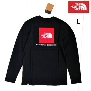 THE NORTH FACE - THENORTHFACE RedBox 長袖T 黒 US/L 海外限定★新品