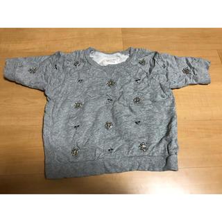 ラグナムーン(LagunaMoon)の半袖ビジュートップス (カットソー(半袖/袖なし))