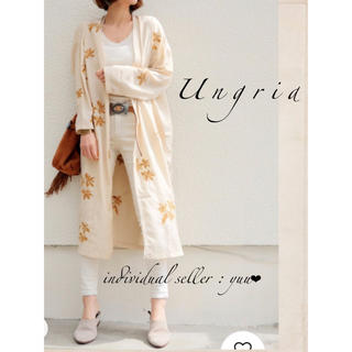 Ungrid - Ungrid エンブロイダリーサテンガウン 刺繍 フラワー 花柄 ベージュ