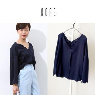 ROPE - 18SS ROPE' スカラップ刺繍ブラウス