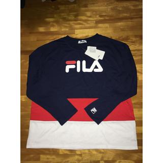 フィラ(FILA)のFILA ロンT/ネイビー(Tシャツ(長袖/七分))