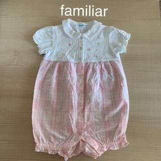 familiar - 【美品】ファミリア ロンパース familiar