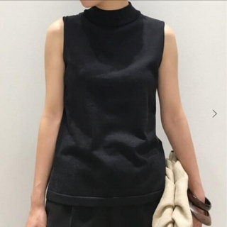 L'Appartement DEUXIEME CLASSE - アパルトモン Silk * CTN N/S TOP ブラック
