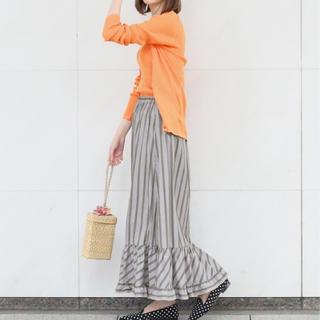 IENA - IENA LA BOUCLE ストライプ ヘムフレアースカート
