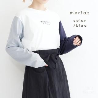 merlot - 春の新作*merlot ユニークな刺繍ロンT