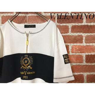 VALENTINO - 【正規品】VALENTINO ヴァレンティノ ハーフジップ 半袖シャツ