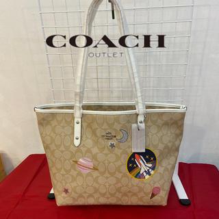 COACH - 新品コーチ US限定 トートバッグ ウィズスペース シグネチャーコレクション