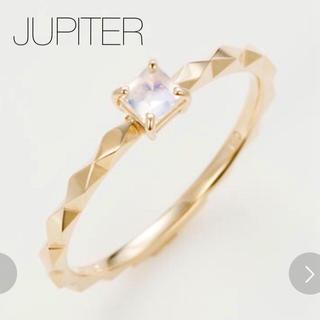 agete - ◆現行品◆【JUPITER】K10 カラーストーンリング/ブルームーンストーン