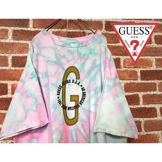 GUESS - GUESS ゲス 一点物 カラーリング ゆるだぼ 半袖シャツ