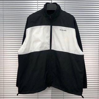 Balenciaga - BALENCIAGA ロゴ ウインドブレーカー ジャケット