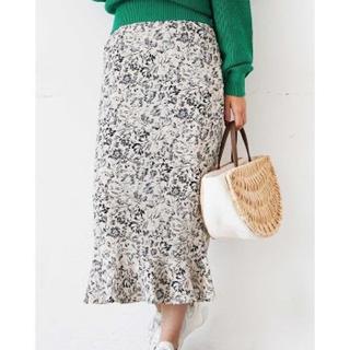FREE'S MART - フリーズマート モードフラワー裾フレアIラインスカート