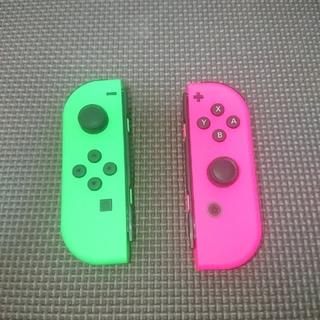 ニンテンドースイッチ(Nintendo Switch)のジョイコン L R ネオン グリーン ピンク ニンテンドースイッチ(その他)