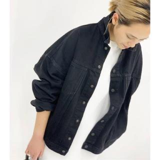 L'Appartement DEUXIEME CLASSE - 新品 AP STUDIO ブラック オーバーサイズ デニムジャケット 黒