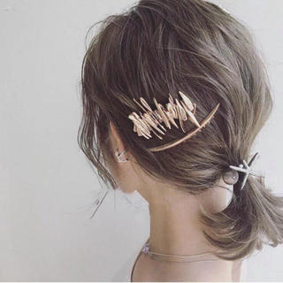 BEAUTY&YOUTH UNITED ARROWS - 新品 ギザギザ ゴールド アレンジヘア ヘアピン ヘアクリップ バレッタ