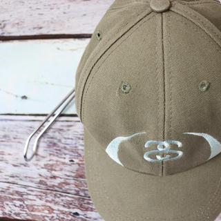 STUSSY - 激レア ステューシー 90s 刺繍 ロゴ キャップ スナップバック オリーブ