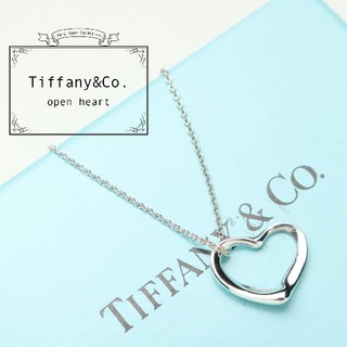 Tiffany & Co. - 新品仕上げ 美品 TIFFANY ティファニー オープン ハート ネックレス