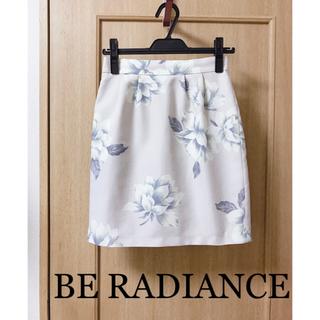 BE RADIANCE - BE RADIANCEビーラディエンス 水彩花柄コクーンミニスカートピンク