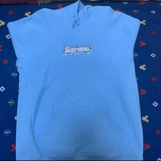 シュプリームBandana box logo hooded sweatshirt