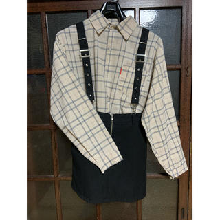 スピンズ(SPINNS)のSPINNS チェックシャツ & WEGO ジャンスカ セット売り(セット/コーデ)