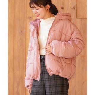 rps - 【本日限定セール】rps  ゆったり大きめ中綿フード付きダウンコート  春ピンク