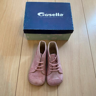【新品未使用】gusell グゼッラ 13〜13.5cm ピンク ベビー 革靴(ブーツ)