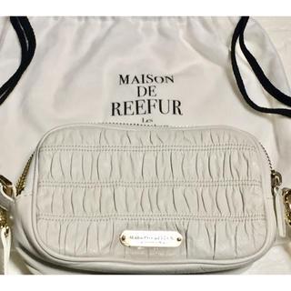 メゾンドリーファー(Maison de Reefur)の新品未使用メゾン ド リーファー レザーシャーリングポーチ(ハンドバッグ)