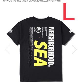 ネイバーフッド(NEIGHBORHOOD)のWIND AND SEA NEIGHBORHOOD TEE BLACK L(Tシャツ/カットソー(半袖/袖なし))