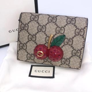 Gucci - グッチ チェリー 財布 ミニ コインケース カードケース