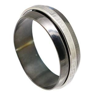 ウエイブローリングステンレスリング ブラック 18号 新品(リング(指輪))