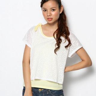 マジェスティックレゴン(MAJESTIC LEGON)の美品 花柄シースルーTシャツ(Tシャツ(半袖/袖なし))