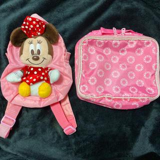 ディズニー(Disney)のミニーバッグパックオムツ入れ他(おむつ替えマット)