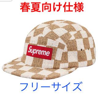 Supreme - 定価以下お買得 Supreme Checkerboad Camp Cap Tan