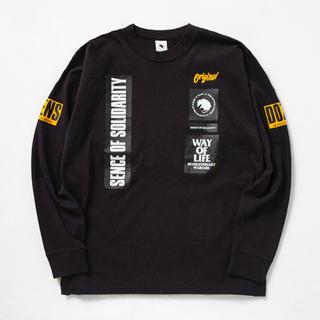 ラッツ(RATS)のRATS/2 WEEL DOZENS LS  BLACK Lsize 新品未使用(Tシャツ/カットソー(七分/長袖))