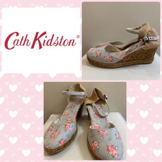 Cath Kidston - キャスキッドソン  フラワーキャンバス  サンダル