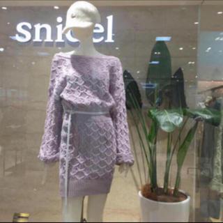 snidel - SNIDEL スナイデル パターン ニット ワンピース